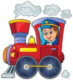 Image with train theme 1 vector illustration