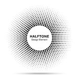Image tramée abstraite noire Dots Logo Design Element de cadre de cercle Photographie stock libre de droits