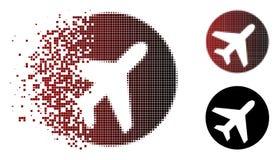 Image tramée cassée Avion Icon de pixel Illustration Libre de Droits
