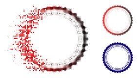 Image tramée cassée Rosette Circular Star Frame Icon de Pixelated illustration libre de droits