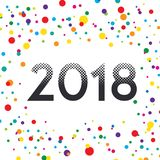 Image tramée colorée de style de vecteur de la bonne année 2018 Image libre de droits
