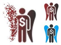 Image tramée décomposée Angel Investor Icon de pixel illustration stock