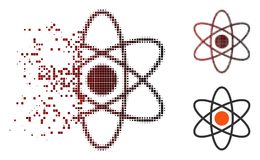 Image tramée détruite Atom Icon de pixel illustration stock