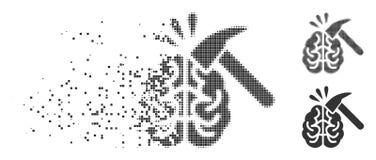 Image tramée de disparition Brain Impact Icon de pixel Photos libres de droits