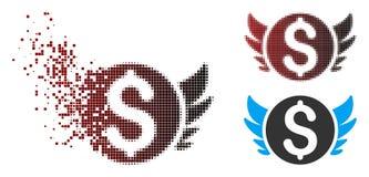 Image tramée de dissolution Angel Investment Icon de pixel illustration libre de droits