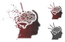 Image tramée de dissolution Brain Operation Icon de pixel illustration libre de droits