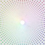 Image tramée de pointage colorée Dots Background de cercle illustration de vecteur