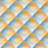 Image tramée de pointillage noire et blanche sans couture Dot Work Pattern Abstract Background de gradient de losange de vecteur Illustration de Vecteur