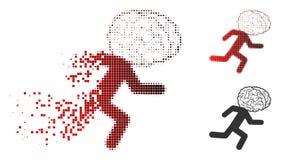 Image tramée dissoute Brain Drain Icon de Pixelated illustration de vecteur