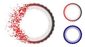 Image tramée dissoute Rosette Circular Star Frame Icon de pixel illustration de vecteur