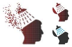 Image tramée endommagée Brain Washing Icon de pixel Photographie stock libre de droits