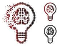 Image tramée mobile Brain Bulb Icon de pixel illustration de vecteur