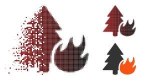 Image tramée mobile Forest Fire Icon de pixel illustration de vecteur