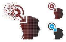 Image tramée rompue Brain Interface Plug-In Icon de pixel Image libre de droits