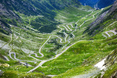 Image of Transfagarasan road. Crossing the  mountains Royalty Free Stock Photography