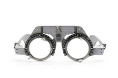 Image of trial frame used in a eye on white background. Royalty Free Stock Photos