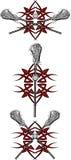 Image tribale de vecteur de Lacrosse illustration libre de droits