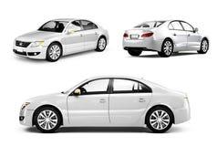 Image tridimensionnelle d'une voiture blanche illustration stock