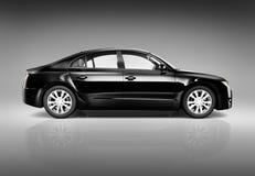 Image tridimensionnelle d'une voiture de luxe noire illustration libre de droits