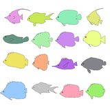 Image of tropical fishes Royalty Free Stock Photos