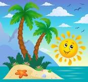Image tropicale 9 de thème d'île Photographie stock libre de droits