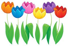 Image with tulip flower theme 2 Royalty Free Stock Photo