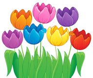 Image with tulip flower theme 4 Stock Image