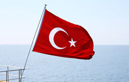 Image of Turkish flag Stock Photo