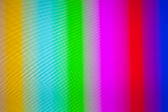 Image of tv fuzz and static. Distorted Television bars signal. Zoom in tv screen Royalty Free Stock Image