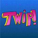 Twip Comic Book Sound Effect Word royalty free illustration