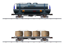 The image of two cargo carriage Stock Photography