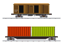 The image of two cargo carriage Royalty Free Stock Photography