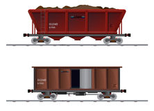 The image of two cargo carriage Royalty Free Stock Photo