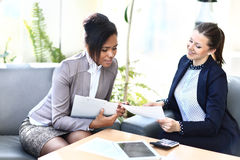 Image of two friendly businesswomen Royalty Free Stock Images