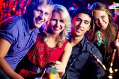 Partying friends Royalty Free Stock Photos