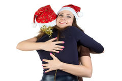 Image of two happy hugging young women Stock Photography