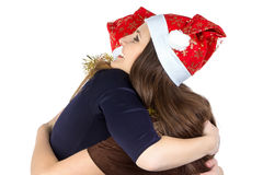 Image of two hugging young women Royalty Free Stock Images