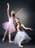 Image of two lovely ballerinas posing at camera Stock Photos