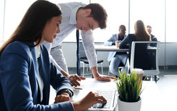 Image of two young business partners Stock Photo