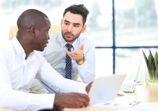 Image of two young businessmen Royalty Free Stock Photography