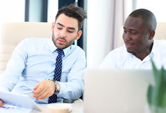 Image of two young businessmen Royalty Free Stock Images