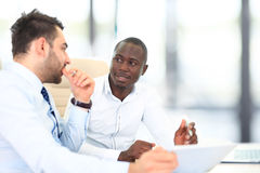 Image of two young businessmen Stock Images