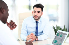 Image of two young businessmen Royalty Free Stock Image