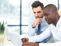 Image of two young businessmen Stock Photos