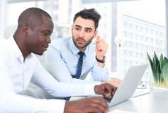 Image of two young businessmen Royalty Free Stock Photos