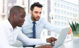 Image of two young businessmen Stock Image