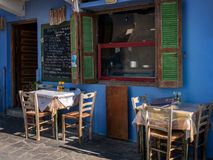 Image of a Typical local restaurant on a Greek Island Royalty Free Stock Images