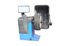 Image of tyre fitting machine Royalty Free Stock Photos