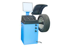 Image of tyre fitting machine Royalty Free Stock Photo