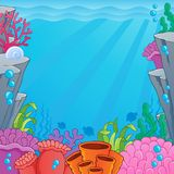 Image with undersea topic 4. Vector illustration Royalty Free Stock Images